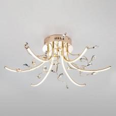 Потолочная светодиодная люстра Eurosvet Sacura 90087/6 золото