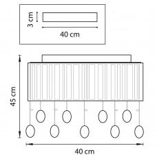 Потолочный светильник Osgona Cappe 745094R