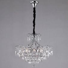 Подвесная люстра Eurosvet Crystal 10080/6 хром/прозрачный хрусталь Strotskis