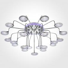 Потолочная люстра Eurosvet Spider 80109/21 хром/синий+фиолетовый