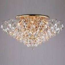Потолочная люстра Eurosvet Crystal 10081/12 золото/прозрачный хрусталь Strotskis