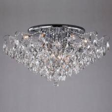 Потолочная люстра Eurosvet Crystal 10081/12 хром/прозрачный хрусталь Strotskis