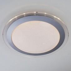 Потолочный светодиодный светильник Eurosvet Fusion 40002/1 LED матовое серебро