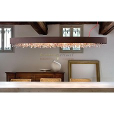 Светильник подвесной Masiero OLA S4 OV 100 BRONZE