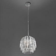 Подвесной светильник Eurosvet Oliver 10091/1 хром/прозрачный хрусталь Strotskis